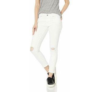 Levis 711 Skinny White Knee Distressed Skinny Jean